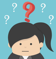 Business Woman with question vector image vector image