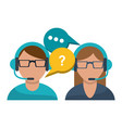 call center customer service vector image vector image