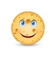 Cartoon cheese vector image