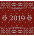 christmas red jumper fragment with 2019 new year vector image vector image