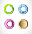 Circle whirl logo icon element set vector image vector image