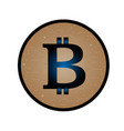 coin with bitcoin sign money and finance symbol vector image