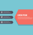 collection infographic step design business vector image vector image