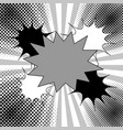 comic monochrome elegant concept vector image vector image