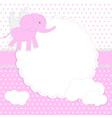 cute bagirl card vector image