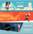deadline banners workload office managers work vector image vector image