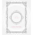 Decorative frames and borders set for vector image vector image