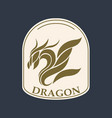 dragon logo icon design vector image vector image