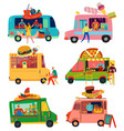 food trucks set vector image vector image