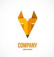 Fox design logo vector image vector image
