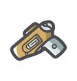 gun holster weapon icon cartoon vector image vector image