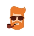 head man hipster style isolated icon vector image vector image