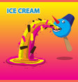 Ice cream snowman burps ice cream image