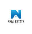 initial letter n real estate company logo design v vector image