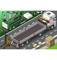 Isometric Pick Up Truck in Rear View vector image vector image