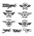 labels set with of vintage airplanes vector image vector image