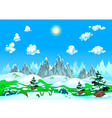 Landscape with snow and mountains vector image vector image