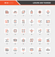 leisure and tourism flat line web icon concepts vector image