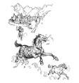 loki turns into a pony vintage vector image vector image