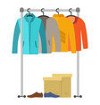 male clothes and shoes vector image
