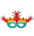 mask with feathers brazil culture vector image vector image
