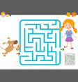 maze laisure activity game vector image vector image