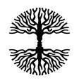 men faces in tree silhouette optic art symbol vector image vector image