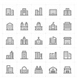mini icon set - building icon vector image