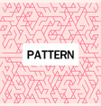 modern overlap hexagon pattern pink background vec vector image vector image