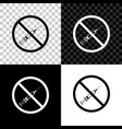 no vaccine icon isolated on black white and vector image