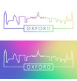 oxford ohio skyline colorful linear style vector image vector image