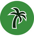 palm tree icon vector image vector image