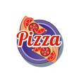 pizza sticker vector image