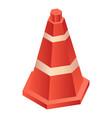 plastic road cone icon isometric style vector image vector image