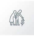 retirement planning icon line symbol premium vector image