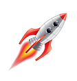 rocket isolated vector image vector image