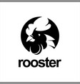 rooster head logo chicken farm vector image vector image