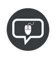 Round mouse controller dialog icon vector image vector image