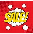 Sale comic vector image