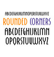 sanserif font in new gothic style with rounded vector image vector image