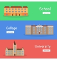 Set of School College and University Banners vector image vector image