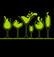 set splash wine glass vector image vector image