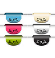 share colorful labels vector image vector image
