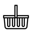 shop basket icon outline