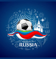 soccer ball design on blue background vector image vector image