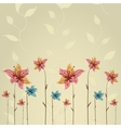 Spring or summer flower greeting card vector image vector image