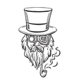 Steampunk old man in top hat and glasses with the vector image vector image