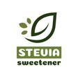 stevia leaves symbol vector image vector image