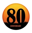 Template Logo Anniversary vector image vector image