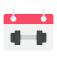 training schedule flat icon fitness and sport vector image vector image